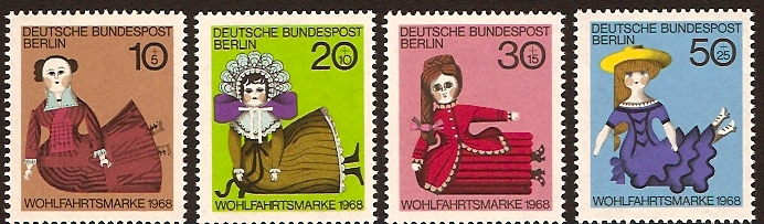West Berlin 1968 Dolls Set. SGB316-SGB319.