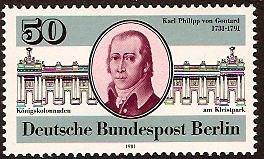 West Berlin 1981 von Gontard Commemoration. SGB611.