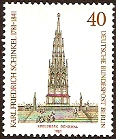West Berlin 1981 Schinkel Commemoration. SGB612.