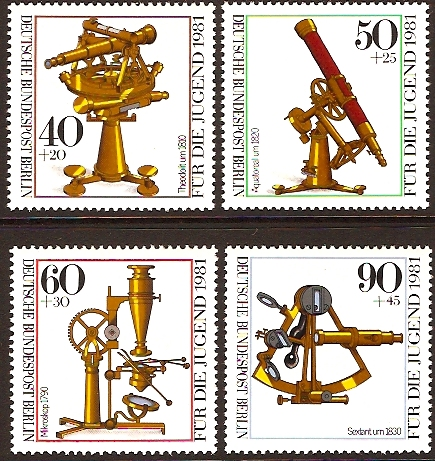 West Berlin 1981 Optical Instruments Set. SGB613-SGB616.