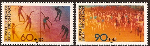 West Berlin 1981 Sport Fund Set. SGB617-SGB618.