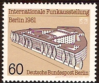 West Berlin 1981 Broadcasting Exhibition Stamp. SGB621.