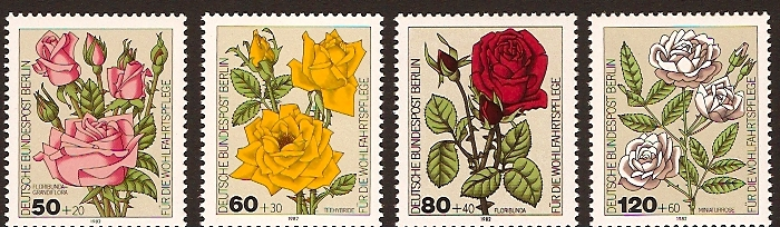 West Berlin 1982 Roses Set. SGB642-SGB645.