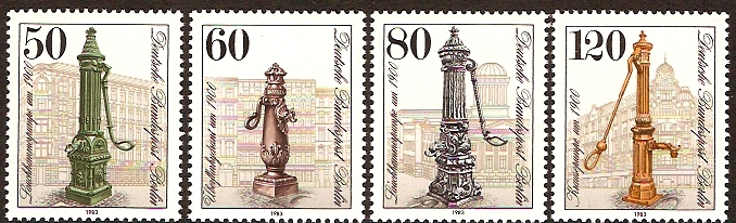 West Berlin 1983 Water Pumps Set. SGB651-SGB654.