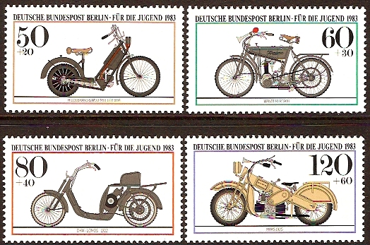 West Berlin 1983 Motor Cycles Set. SGB656-SGB659.