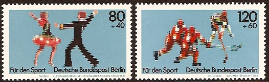West Berlin 1983 Sport Fund Set. SGB660-SGB661.