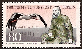 West Berlin 1984 Alfred Brehm Commemoration. SGB684.