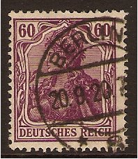 Germany 1902 60pf. Purple. SG91a.