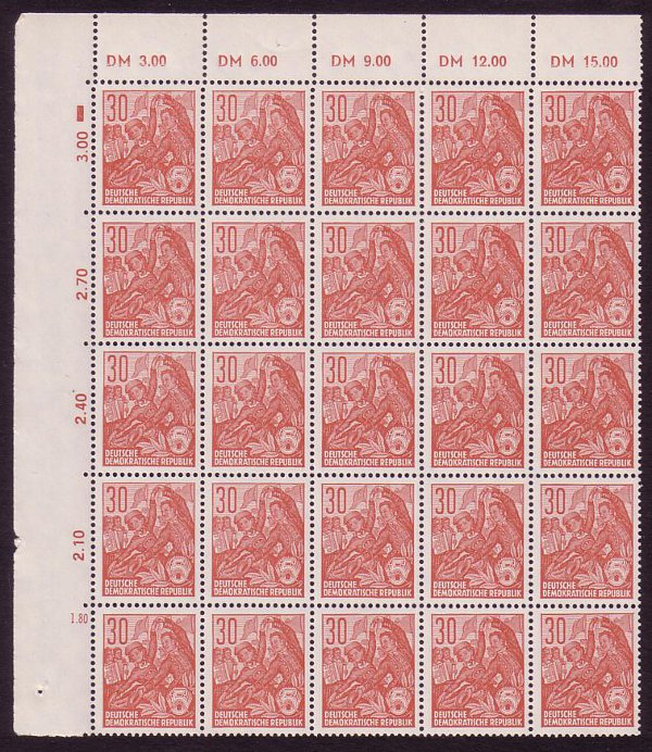 East Germany 1957 30pf Brown-red. SGE316B.