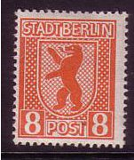 Russian Zone 1945 8pf Red-orange. SGRA3.