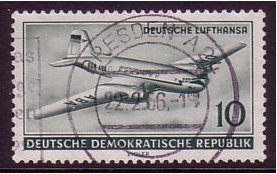 East Germany 1956 10pf. Myrtle-green. SGE250.