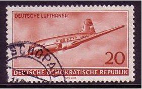 East Germany 1956 20pf Brown-red. SGE252.