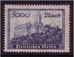 Germany 1923 5000m. Indigo. SG267.