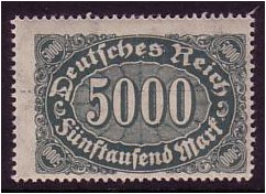 Germany 1922 5000m Grey-green. SG245.