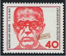 Germany 1973 Maximilian Kolbe Stamp. SG1664.