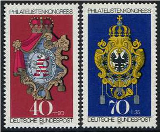 Germany 1973 Stamp Exhibition Set. SG1658-SG1659.