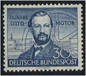 Germany 1952 30pf. Deep Blue Stamp. SG1076.