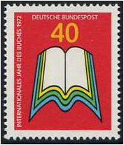 Germany 1972 International Book Year Stamp. SG1634.