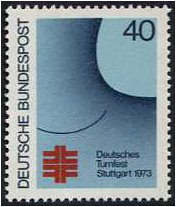 Germany 1973 Gymnastics Festival Stamp. SG1657.