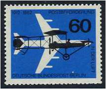 West Berlin 1962 German Airmail Anniversary Stamp. SG B225.