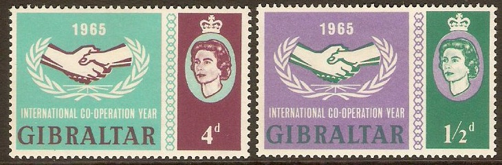 Gibraltar 1965 Int. Cooperation Year Set. SG182-SG183.