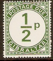 Gibraltar 1971 ½p Green Postage Due. SGD4.