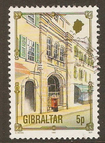 Gibraltar 1993 5p Architectural Heritage series. SG699.