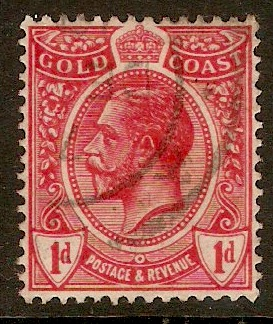 Gold Coast 1913 1d Red. SG72.