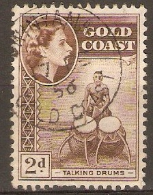 Gold Coast 1952 2d Chocolate. SG156.
