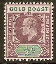 Gold Coast 1902 ½d Dull purple and green. SG38.