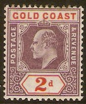 Gold Coast 1902 2d Dull purple and orange-red. SG40.