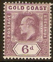 Gold Coast 1907 6d Dull and bright purple. SG64a.
