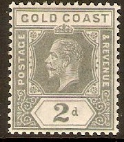 Gold Coast 1913 2d Grey. SG74.