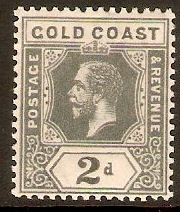 Gold Coast 1913 2d Slate-grey. SG74a.