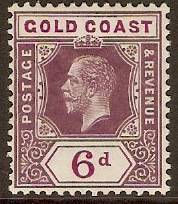 Gold Coast 1913 6d Dull and bright purple. SG78.