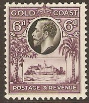Gold Coast 1928 6d Black and purple. SG109.