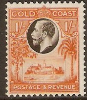 Gold Coast 1928 1s Black and red-orange. SG110.