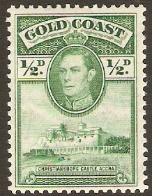 Gold Coast 1938 ½d Green. SG120.
