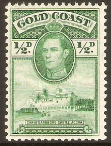 Gold Coast 1938 ½d Green. SG120a.