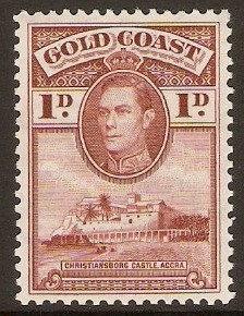 Gold Coast 1938 1d. Red-Brown. SG121a.