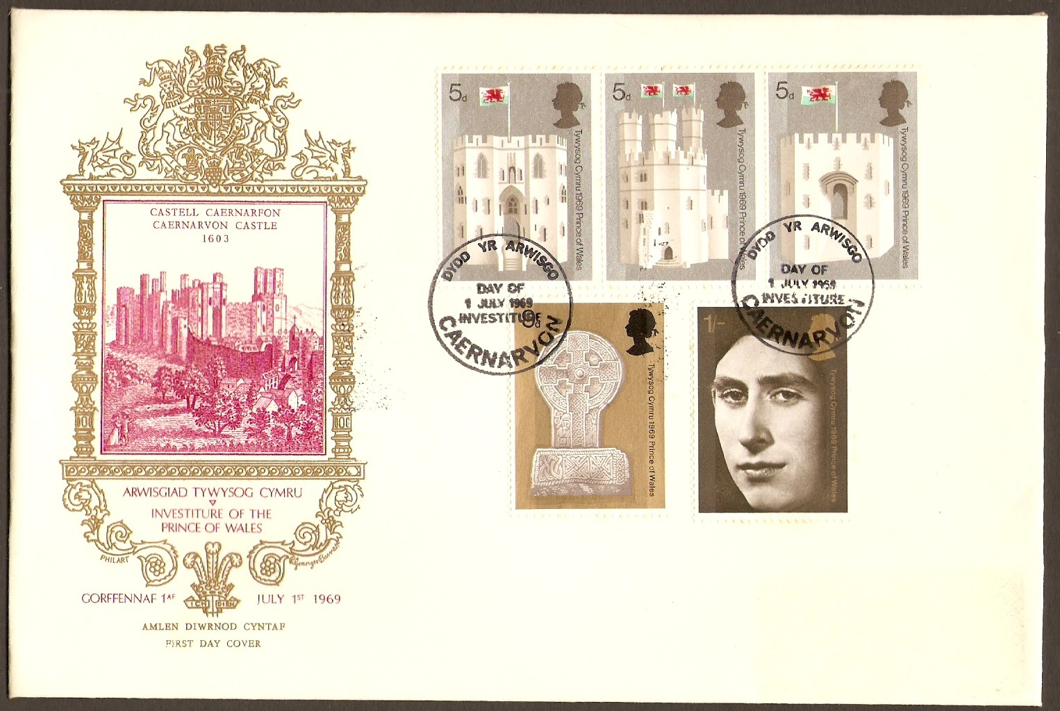 Great Britain 1969 Prince of Wales Investiture Set FDC.