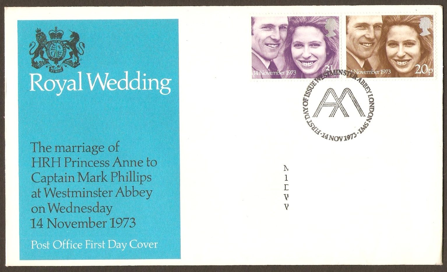 Great Britain 1973 Royal Wedding Stamps FDC. SG941-SG942.