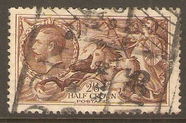 Great Britain 1934 2s.6d Chocolate-brown. SG450.