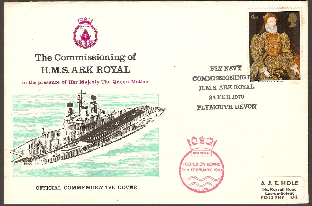 Great Britain Commissioning of HMS Ark Royal - Souvenir Cover.