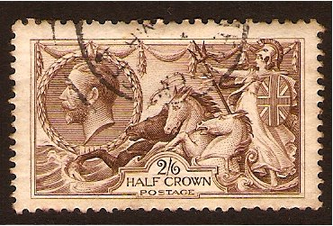Great Britain 1918 2s.6d. Chocolate Brown. SG414.