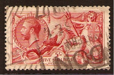 Great Britain 1919 5s. Rose-Red. SG416.