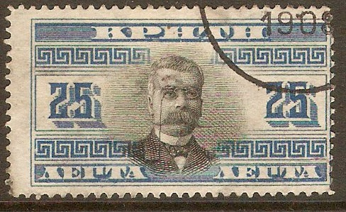 Crete 1907 25l Black and blue. SG30.