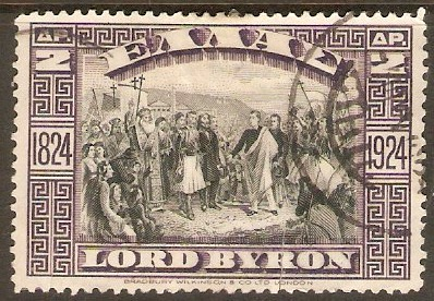Greece 1924 2d Byron Centenary series. SG404.