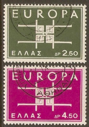 Greece 1963 Europa Stamps Set. SG927-SG928.