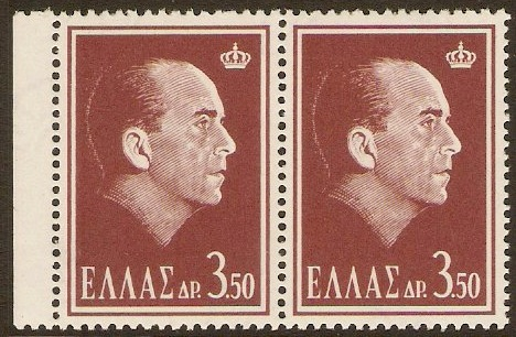 Greece 1964 3d.50 Death of Paul I Series. SG943.